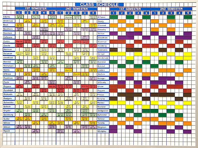 Magnetic Class & Teacher Schedules